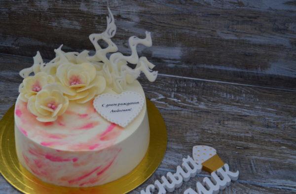 торт с шокоцветами