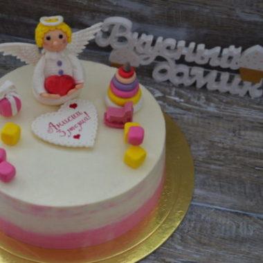 торт с ангелом